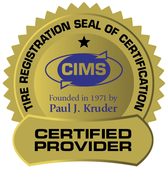 Cims Seal of Tire Registration
