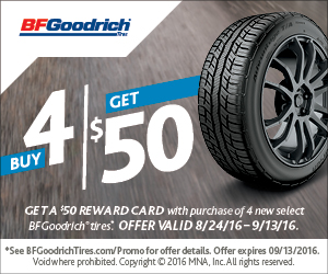 BF Goodrich Fall 2016 Tire Rebate