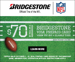Bridgestone Fall 2016 Tire Rebate