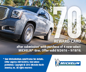 Michelin Fall 2016 Tire Rebate