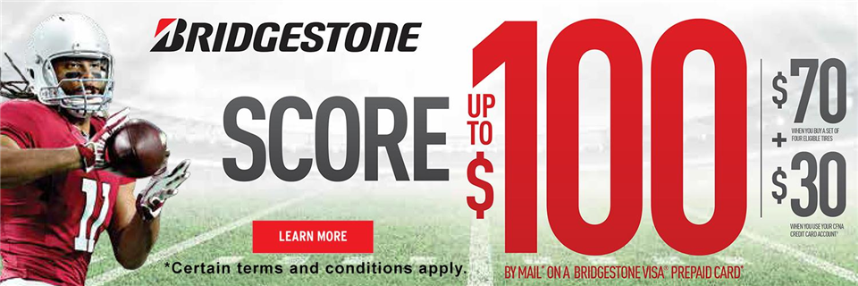 2017 Bridgestone Tire Fall Rebate