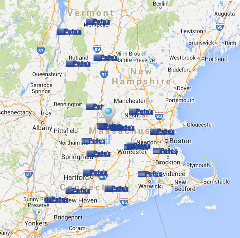 Map of Pete's Tire Barns Locations