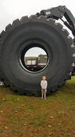 Big Tire with Kid