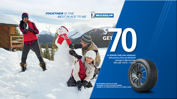Michelin Tire Winter Rebate 2016