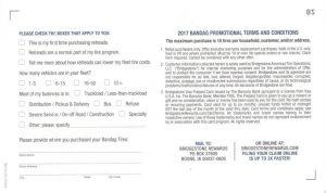 2017 Bandag Cap/Casing Tire Promotion Form