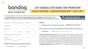 2017 Bandag Cap/Casing Tire Promotion