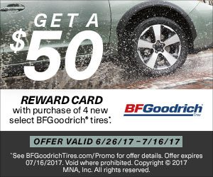 BFGoodrich Summer 2017 Tire Promotion