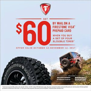 firestone tire fall rebate 2017