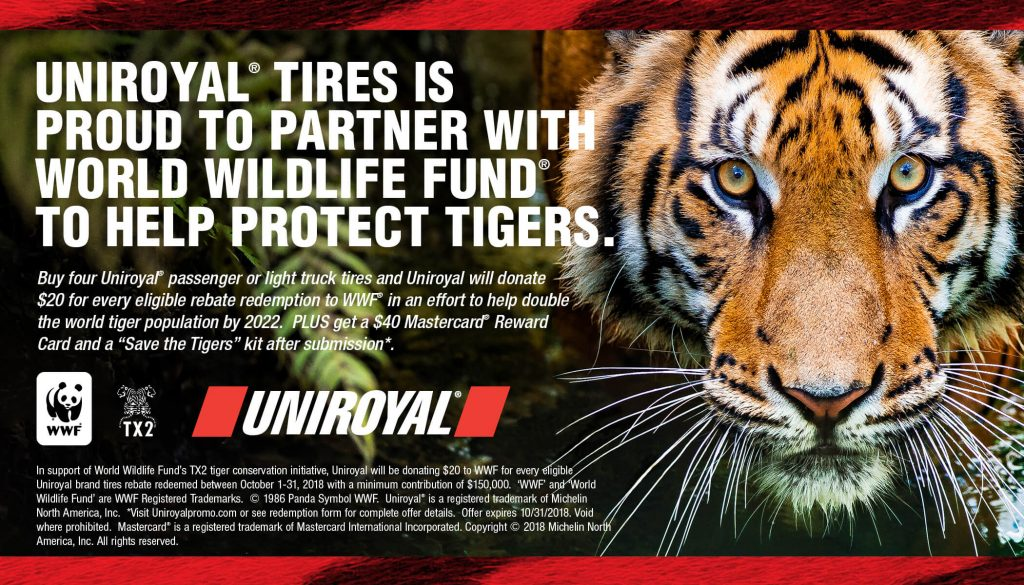 WWF and Uniroyal Protecting Tigers